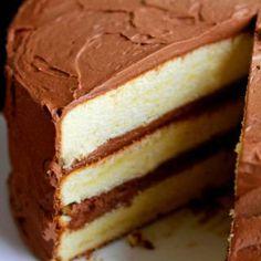 Yellow Cake Recipe with Chocolate Frosting   Grandbaby Cakes