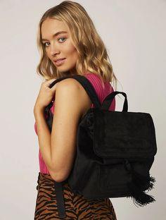 Aiko Satin Backpack | Black Backpacks | Skinnydip London