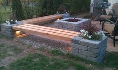 Image result for small firepit area