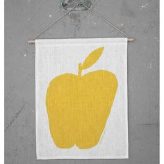 NEW * Apple wall hanging (limited edition) - Mogu Takahashi  by Fine Little Day  * www.the-pippa-and-ike-show.com