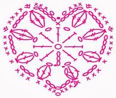 Crochet Heart - Chart  ❥ 4U // hf