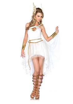 Dress the Goddess that you are with our Goddess Hermes Adult Women's Costume - 303277 via Trendyhalloween.com. Hermes: the messenger god. #greekcostumes