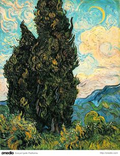 Van Gogh - Cypresses (1889) - Metropolitan Museum of Art, New York