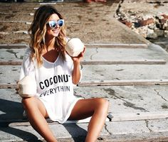 Why does coconut oil helps you losing weight? Summer Of Love, Summer Girls, Summer Time, Summer Outfits, Cute Outfits, Summer Clothes, Pretty Outfits, Beach Babe, Dress Me Up