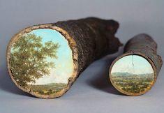 Luneta e binóculo de madeira