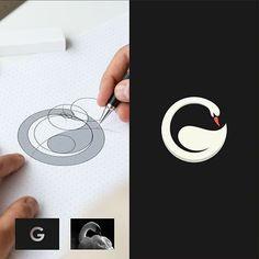 Logo Inspiration, Graphic Design Tips, Graphic Design Posters, Monogram Logo, Handwritten Logo, Logo Face, Logo Design Tutorial, Typographic Logo, Geometric Logo