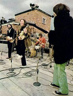 The Beatles, their last concert before splitting up
