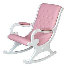 Arredare in rosa, Pink positive! - Homidoo http://www.homidoo.it/arreda-rosa-pink-positive/ sedia a dondolo rosa confetto. Arredamento per soggiorno, mobili in stile