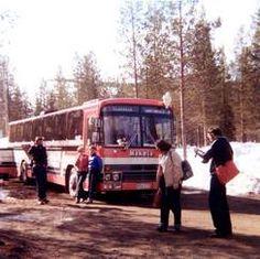 Levi. Matka Lappiin taittui tilausbussilla aikana jolloin Kittilän kentälle ei ollut lentoyhteyttä.