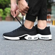 ec6752fcdb Murah Sepatu olahraga bantalan udara berjalan sepatu pria sepatu sepatu  (Hitam) New