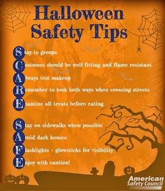 SCARE SAFE! #Halloween Safety from the @Janet Russell-Snider Safety Council