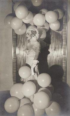 Man Ray -    Countess Celani at the Bal Blanc, 1930  Gelatin silver print.