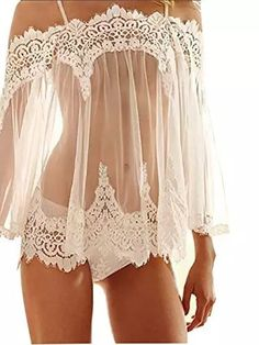 pajamas lingerie on sale at reasonable prices, buy Crochet Lace Nightgowns Sexy pajamas Lingerie Sleepwears Women Sleeveless Summer Dresses Babydoll Nightwear Vestidos Plus Size from mobile site on Aliexpress Now! Belle Lingerie, Lingerie Xxl, White Lingerie, Pretty Lingerie, Wedding Lingerie, Beautiful Lingerie, Lingerie Sleepwear, Nightwear, Women Lingerie