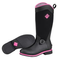 Muck Boots Women's Reign Tall Equestrian Boot - Black/Pink - HeadWest Outfitters
