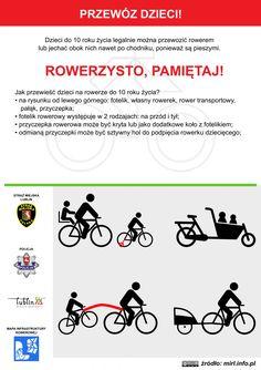 Przewóz dzieci rowerem! / Transportation of children by bicycle! #rower #edukacja #ulotka #infografika #bike #education #leaflet #infographic