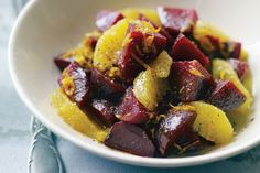 The only thing roasted beets need is a light vinaigrette to be absolutely perfect. When making this recipe, roast a few extra beets to use in salads and sandwiches or in other beet dishes. Try the recipe with Chioggia or golden beets as well. Vegetarian Times, Vegetarian Recipes, Cooking Recipes, Healthy Recipes, Appetizer Salads, Vegan Appetizers, Bean Recipes, Side Dish Recipes, Side Dishes