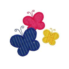 Butterflies Applique Embroidery Machine Design Butterfly - DIY and Crafts Applique Embroidery Designs, Machine Embroidery Applique, Embroidery Machines, Applique Designs Free, Patchwork Quilting, Sewing Crafts, Sewing Projects, Baby Applique, Sewing Appliques