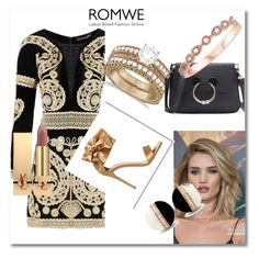 """""""Romwe contest"""" by maja9888 ❤ liked on Polyvore featuring For Love & Lemons, Whiteley, Gianvito Rossi, Allurez and Yves Saint Laurent"""