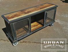 Urban Locker Stéréo Steel Furniture Custom Recycled Living