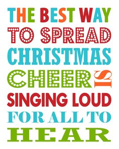 Free Christmas Printable - The Best way to spread Christmas Cheer.