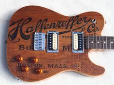 Grove Guitars and Basses - Graham Whitford Haffenreffer Boston Beer Crate top. More at http://www.groveguitars.com/