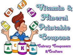 Vitamins and minerals printables calvary couponers and crafters