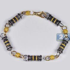 Mens Black Diamond Bullet Bracelet 14K Two Tone Gold 8.29 ct http://www.24diamonds.com/mens-black-diamond-bullet-bracelet-14k-two-tone-gold-8-29-ct_30283.html