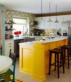 ห้องครัวสีสันสดใส