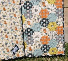 Organic Quilt Fox Boy Woodland Blanket Baby Toddler Forest Animals All Natural.