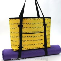 "Nancy Zieman""s,  Sew A Yoga Tote Bag,  with Clover's Trace 'n Create Florida Tote Template"