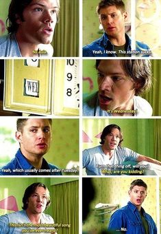 Although it was awful that Dean repeatedly died in this episode, it was hilarious trying to figure out how he died in the shower that one time lmao