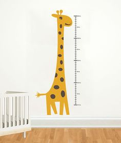 Height Chart Wall Decal Giraffe Growth Chart by DecalLab on Etsy, $59.00