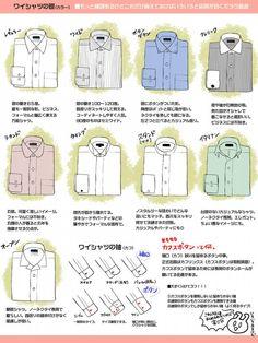ワイシャツやベストのことが良く分かるイラストがTwitterに投稿されて話題に