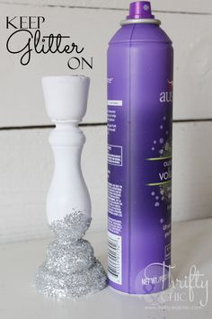 Great way to get glitter to stay on!