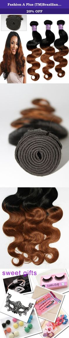 """Fashion A Plus (TM)Brazilian Natural Human Hair Ombre Hair Extensions Two Tone Mixed Color 3 Bundles/lot 300g Total #T1B/30 7A Grade (16"""" 16"""" 18""""). This is ideal for adding length and volume or color without causing damage to your own hair. Made from 100% high quality virgin human hair. The double weft uses environmentally friendly glue that does no harm to the scalp. Hair Extension Type:Weaving Items per Package:3 Pieces/Order Unit Weight:100g(+/-5g)/piece Texture:Body Wave Hair..."""
