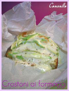 crostini di formaggio al cartoccio con zucchine        #recipe #juliesoissons