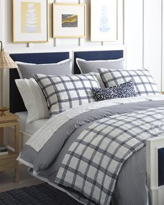 Explore the Serena & Lily luxury bedding collection and discover beautiful cotton bedding sets, sheet sets, duvet covers, quilts, & shams. Luxury Duvet Covers, Bed Linens Luxury, Cheap Bed Sheets, Striped Duvet Covers, Bed, Modern Bed, Grey Bedding, Coastal Bedrooms, Luxurious Bedrooms