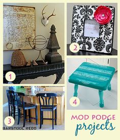4 Fun Mod Podge Projects · Home and Garden | CraftGossip.com