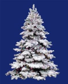 A snowy alternative to traditional greenery this Alaskan pine tree has beautifully flocked PVC tips and clear Dura-lit lights to add festive flair to your home during the holidays. White Artificial Christmas Tree, Pencil Christmas Tree, Pre Lit Christmas Tree, Colorful Christmas Tree, Xmas Tree, Christmas Time, Christmas Things, Christmas Crafts