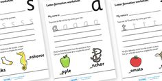 Letter Formation Worksheets (Phase 2) - Handwriting, letter formation, writing practice, Phase 2, Phase two, foundation, letters, writing, learning to write, DFES letters and sounds