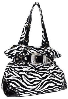 Quilted Zebra Print Large Tote Bag With Bow Saddlery Equestrian Chic Bags Pinterest Purses And
