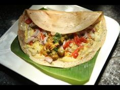 Indian Street Food - Egg Dosa