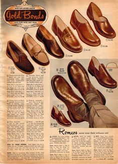 Man Shoes Fashion Sears Vintage Mens Shoes from a