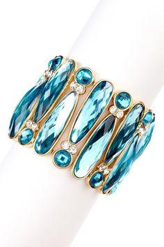 crystal bracelet - Blue is always my favorite!