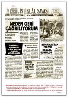12.06.1919 İstiklal Harbi Gazetesi İstiklal Harbinin başlangıç dönemi olan 15 Mayıs-18 Ekim 1919 tarihleri arasındaki olayları bir günlük gazete formatında aktarmak amacıyla 1969-1970 yılları arasında 131 sayı olarak gazeteci Ömer Sami Coşar tarafından hazırlandı. Yeni İstanbul gazetesine ek olarak dağıtılmıştır. tarihsel ve ansiklopedik bir yayın niteliğindedir.