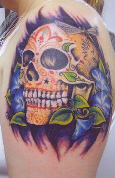 Fuck Yeah ☠ Skull Tattoos   Skull Tattoo Designs