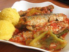 Peşte cu ardei copt Romanian Food, Fish Recipes, Chicken, Cubs