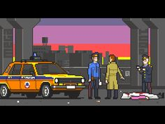 A mockup for a never-to-be-released nostalgic quest. The scene is set at an industrial town in the middle of the USSR at the 70's.