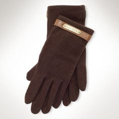 Wool-Blend Plaque Gloves - Lauren Gloves - RalphLauren.com