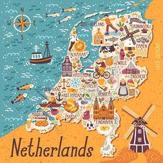 Нидерланды стали любимой страной среди всех моих карт #magicforestory_maps Листайте вправо, чтобы посмотреть поближе ➡ Здесь хотелось без…